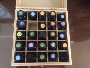 essential oils in a box